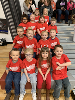PreK getting ready to sing National Anthem