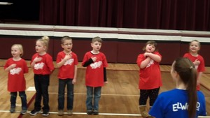 National Anthem performed by the 2018-19 preschool class