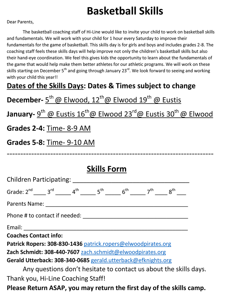 2020-21 Basketball Skills Camp