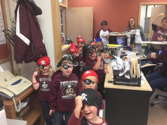 PreK showing some Pirate Pride. Arrrrrgggggghhhhh