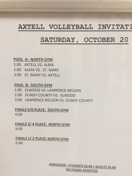 Schedule for Axtell VB invit