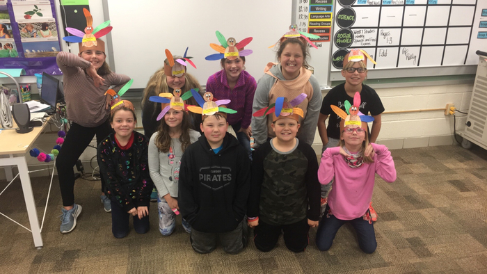 4th Grade students are all very Thankful Turkeys! 🦃