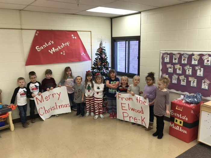 Elwood Pre-k says Merry Christmas!