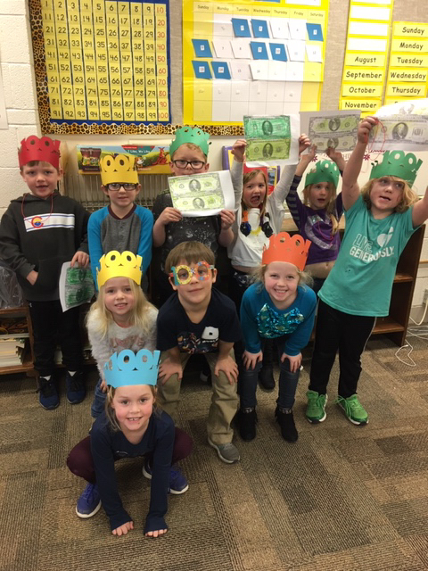 Celebrating the 100th day of school.