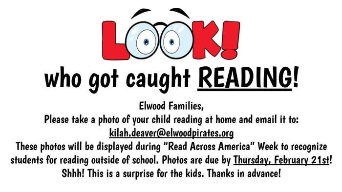 Please send photos of your kids reading at home!