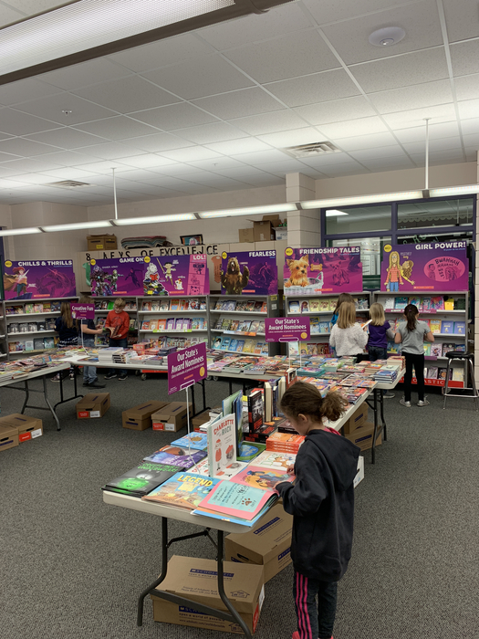 Second Grade at Book Fair
