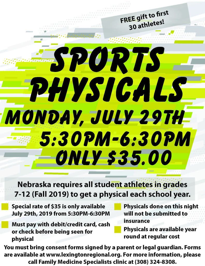 Lexington Regional Health Center Sports Physicals Information