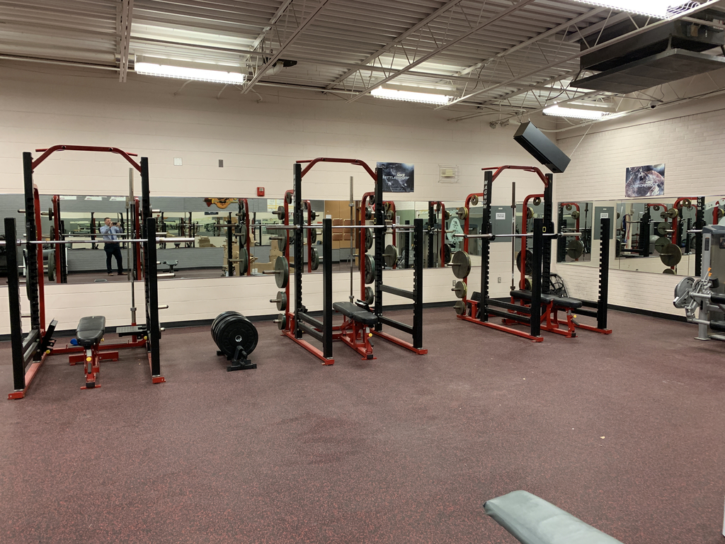 New flooring in the weight room.