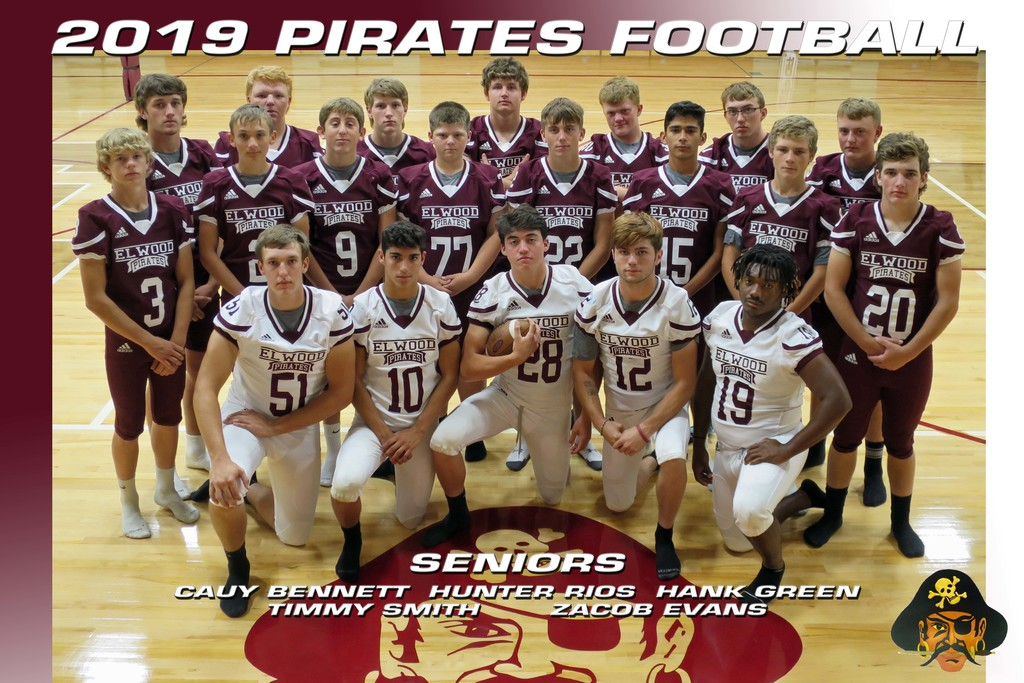 2019 Elwood Pirates Football Team Banner