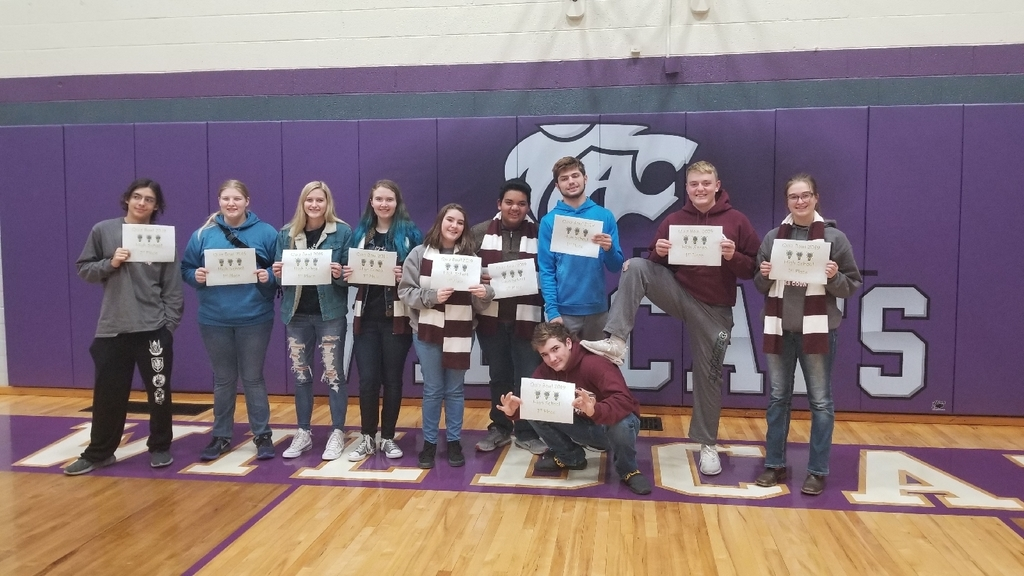 High School Quiz Bowl champions at Axtell.