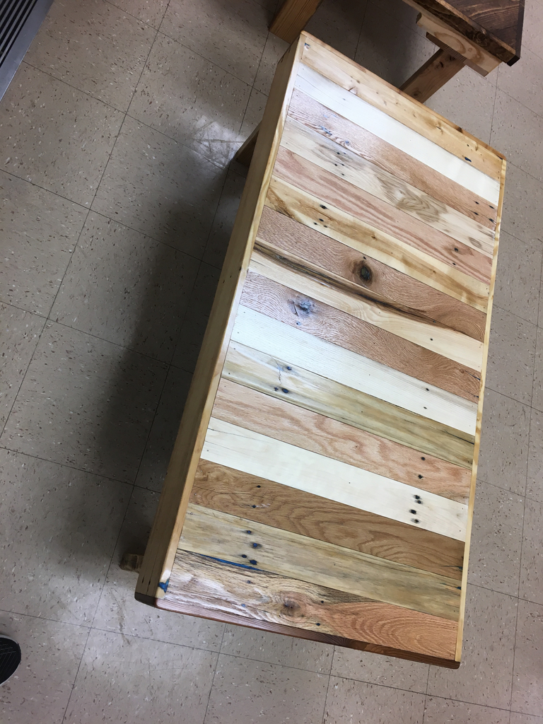 Zach Dickau's pallet project coffee table.