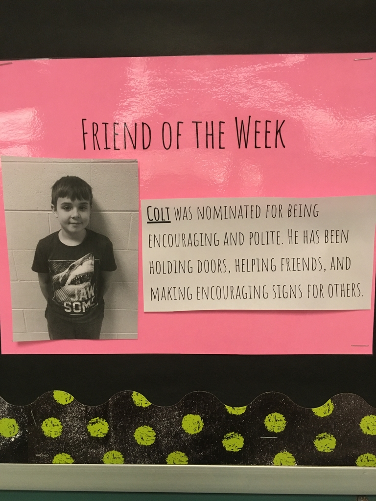 Cold friend of the week
