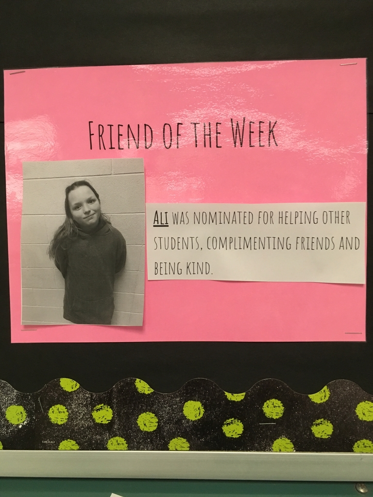 Ali-Friend of the week