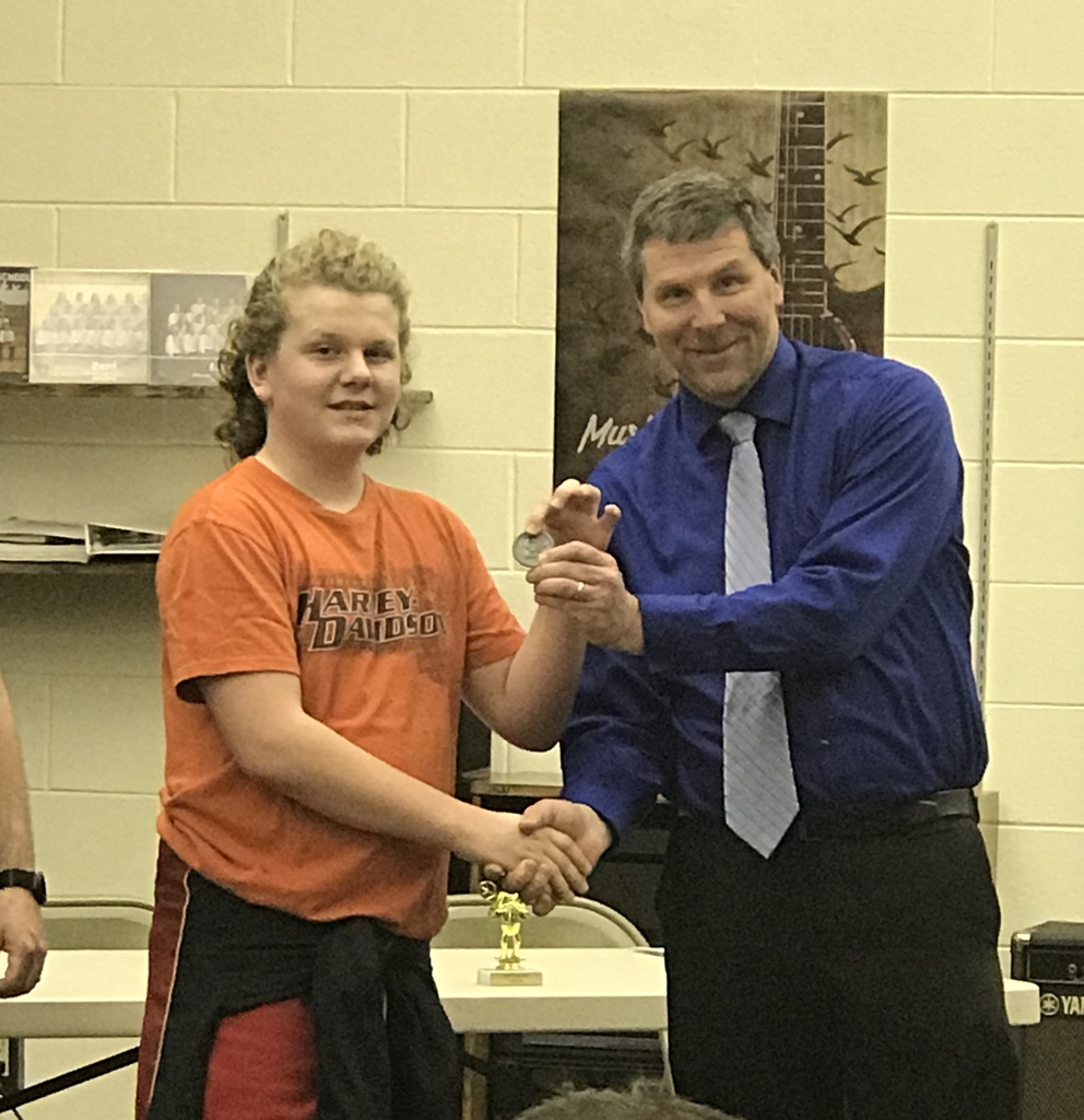 Julian Seberger, 2nd place in Gosper County Spelling Bee.