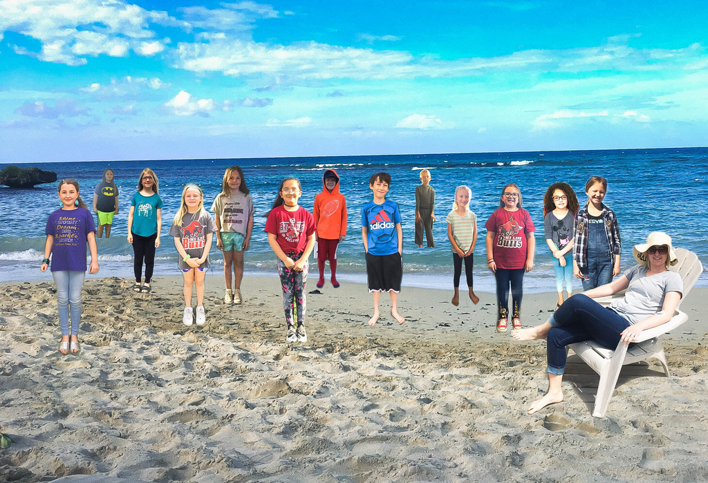 3rd grade-photoshop at beach