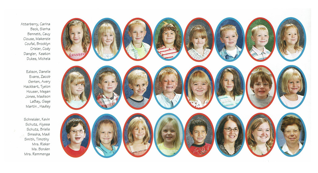 Class of 2020 in kindergarten