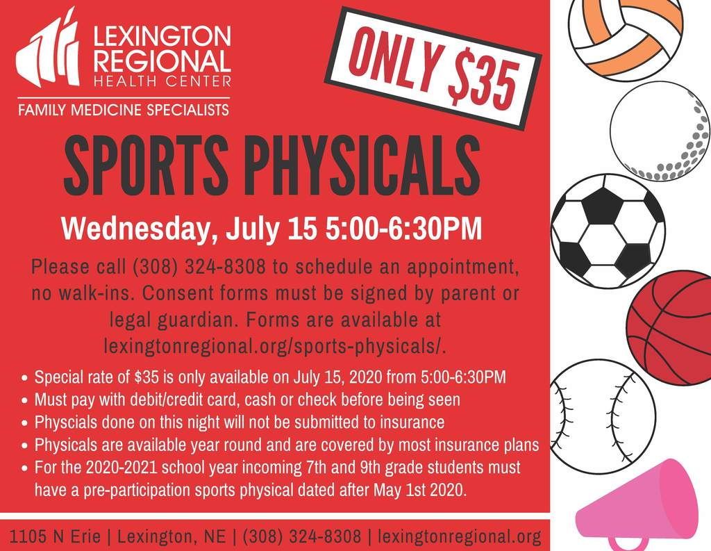 2020-21 Athletic Physicals